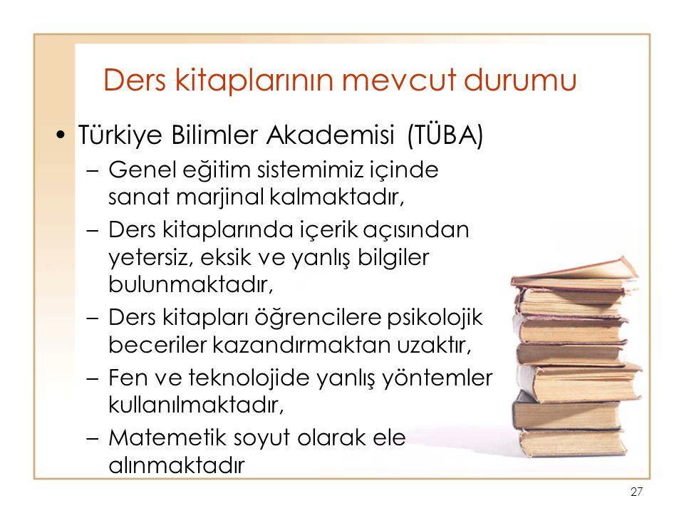Ders kitaplarının mevcut durumu