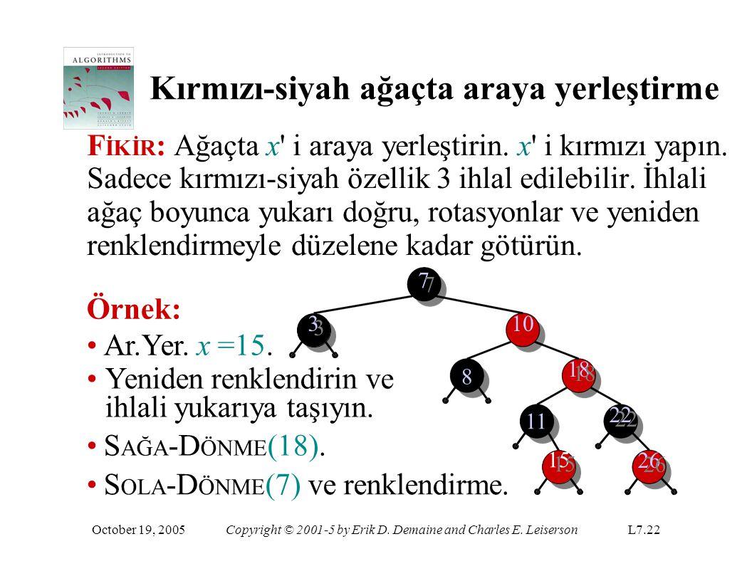 Kırmızı-siyah ağaçta araya yerleştirme