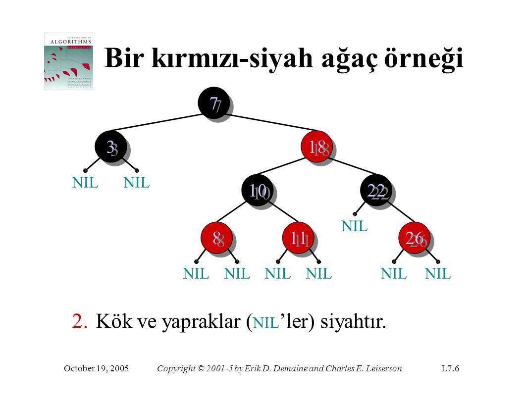 Bir kırmızı-siyah ağaç örneği