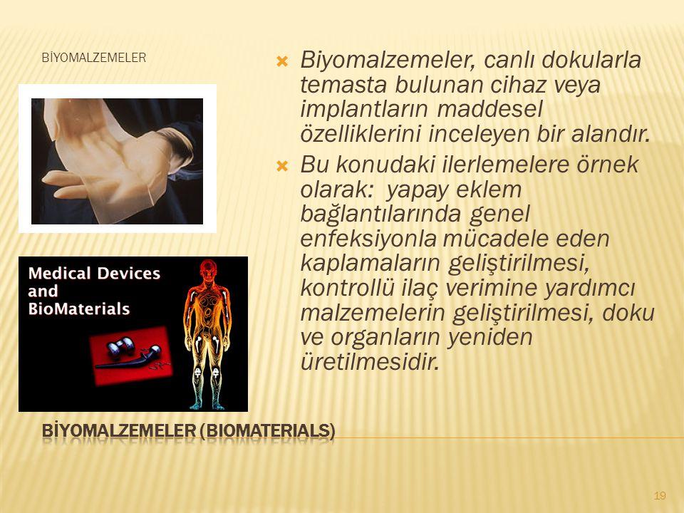 BİYOMALZEMELER (BIOMATERIALS)