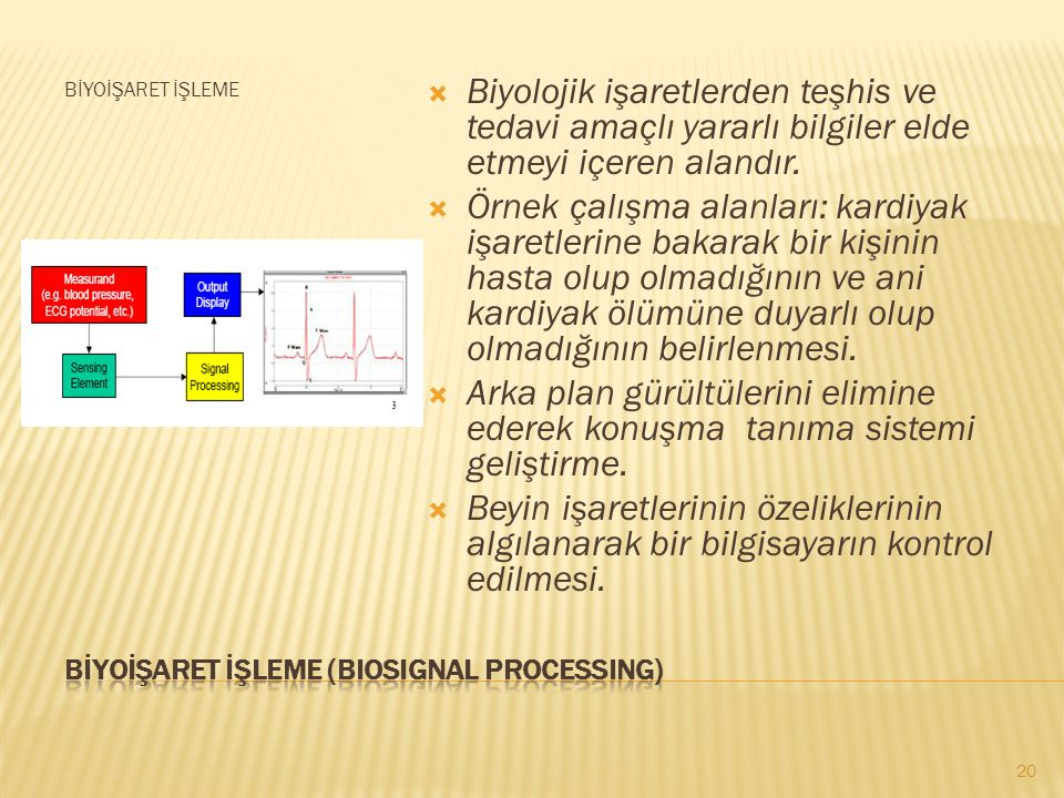 BİYOİŞARET İŞLEME (BIOSIGNAL PROCESSING)