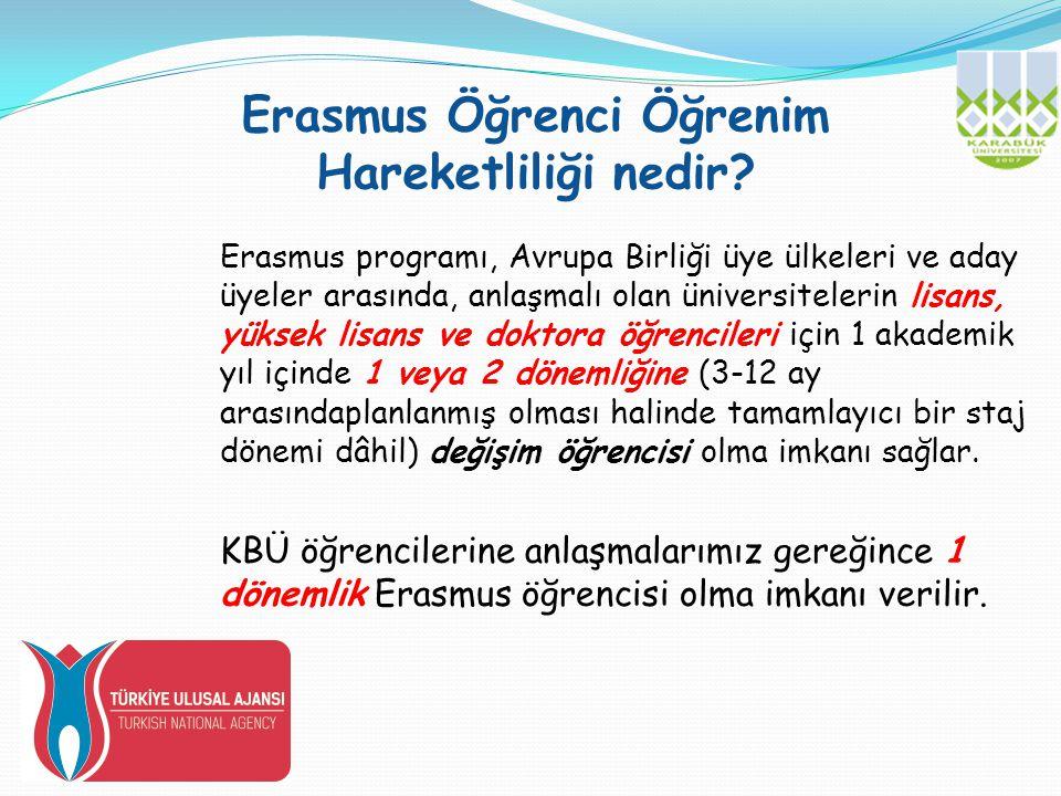 Erasmus Öğrenci Öğrenim Hareketliliği nedir