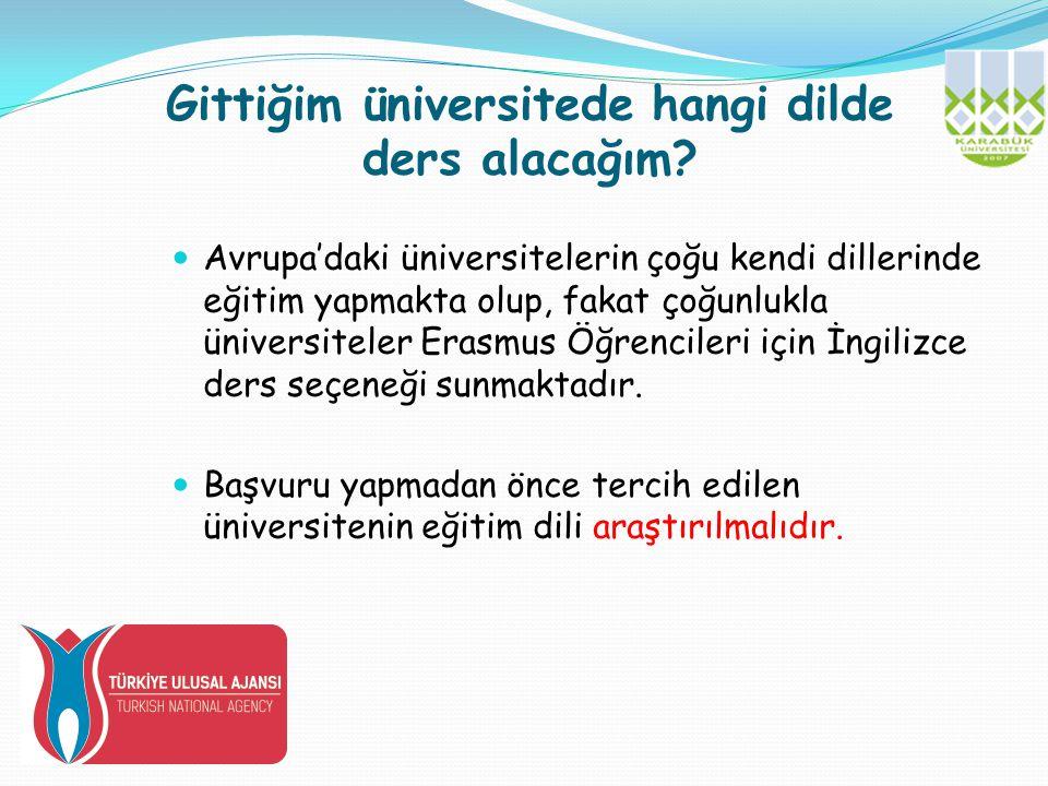 Gittiğim üniversitede hangi dilde ders alacağım