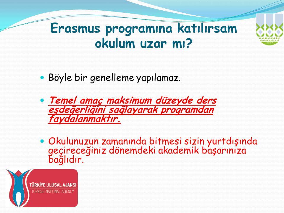 Erasmus programına katılırsam okulum uzar mı
