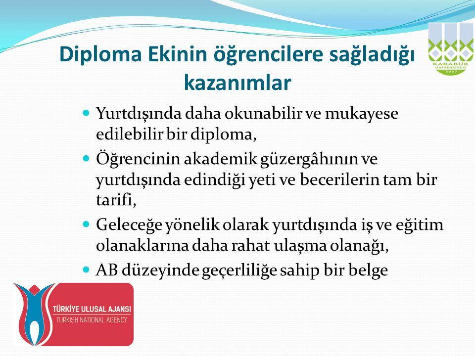 Diploma Ekinin öğrencilere sağladığı kazanımlar