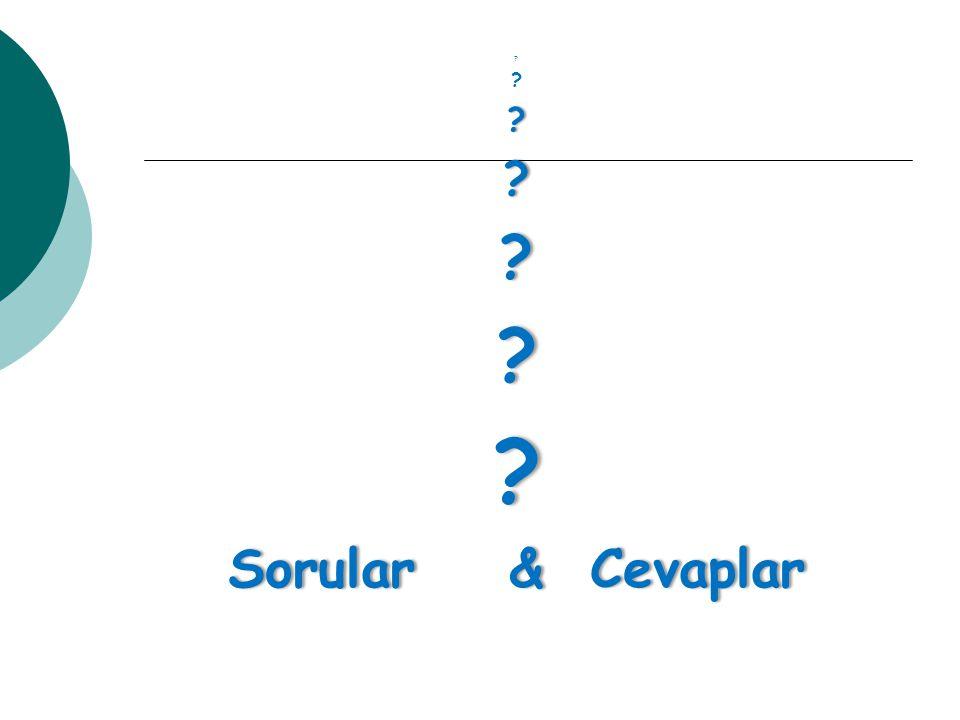 Sorular & Cevaplar