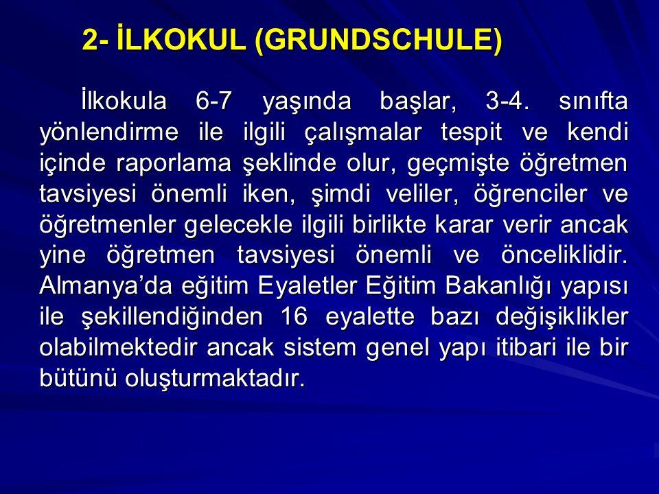 2- İLKOKUL (GRUNDSCHULE)