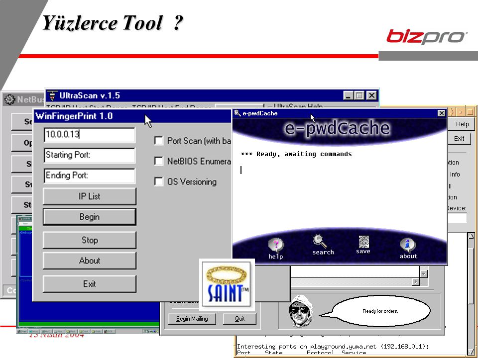 Yüzlerce Tool Connected to Nisan 2004