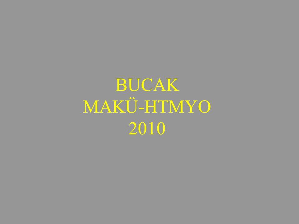 BUCAK MAKÜ-HTMYO 2010