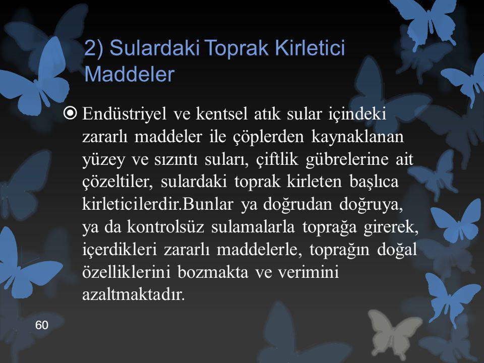 2) Sulardaki Toprak Kirletici Maddeler