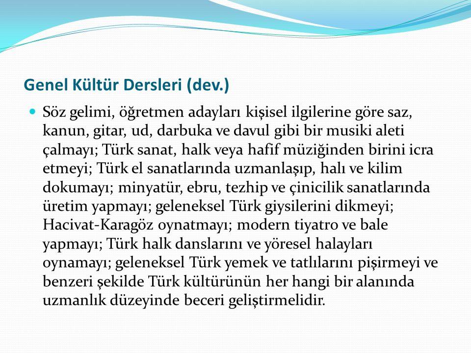 Genel Kültür Dersleri (dev.)
