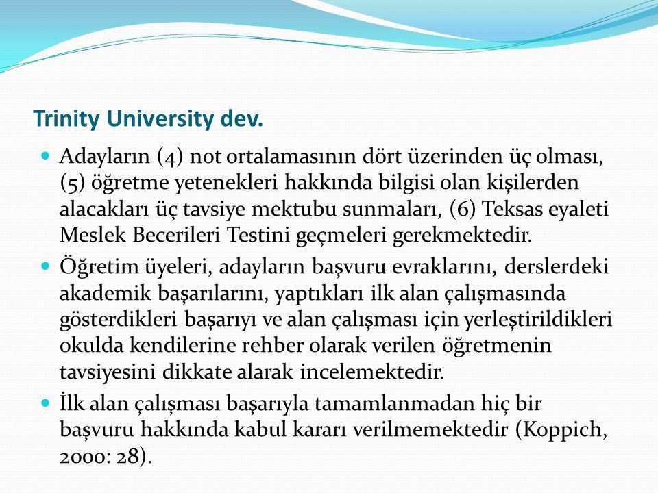 Trinity University dev.