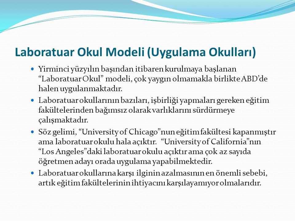 Laboratuar Okul Modeli (Uygulama Okulları)