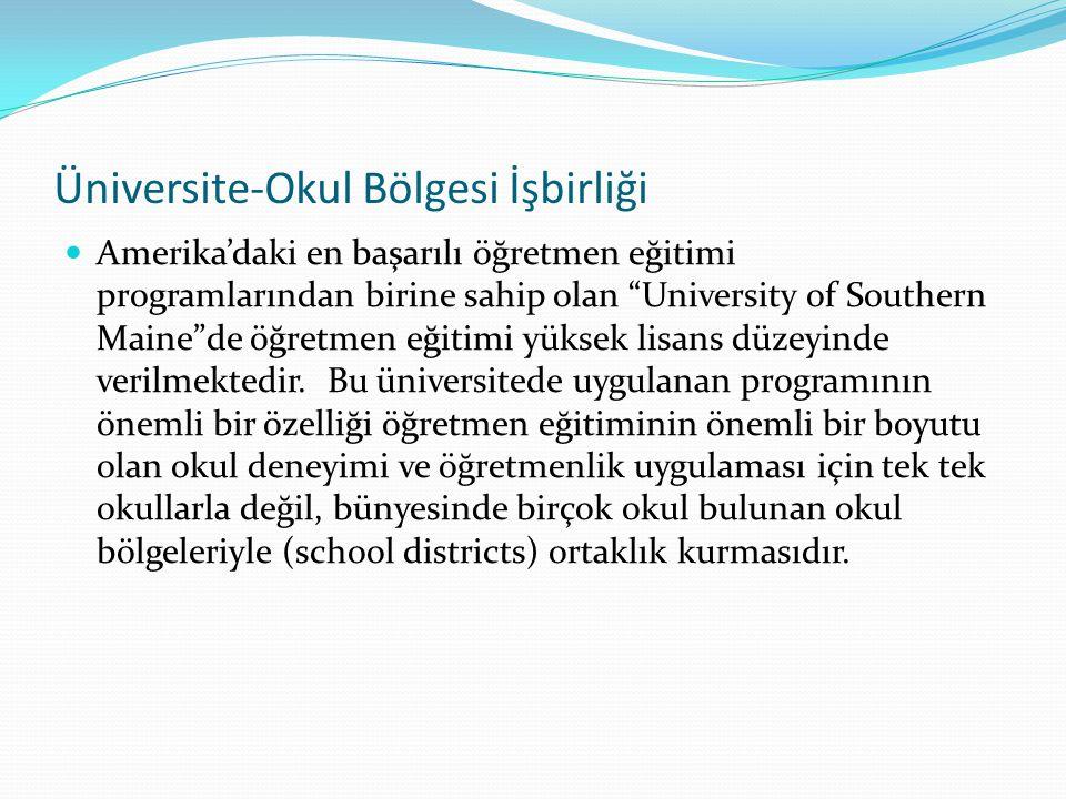 Üniversite-Okul Bölgesi İşbirliği
