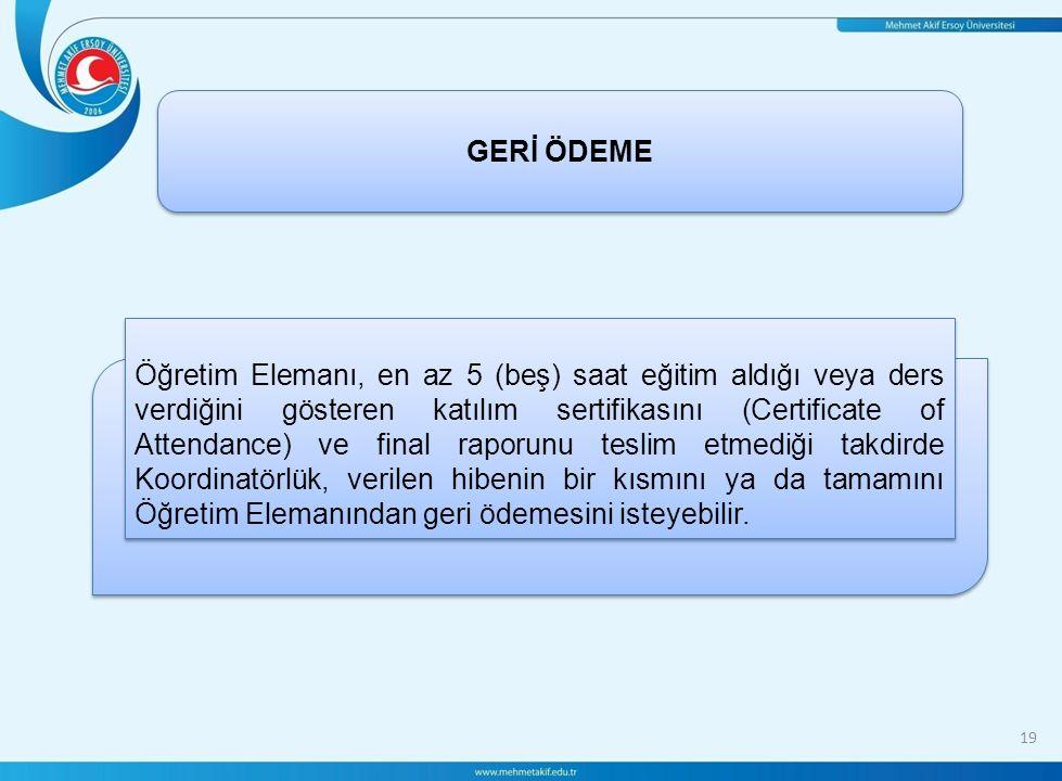 GERİ ÖDEME