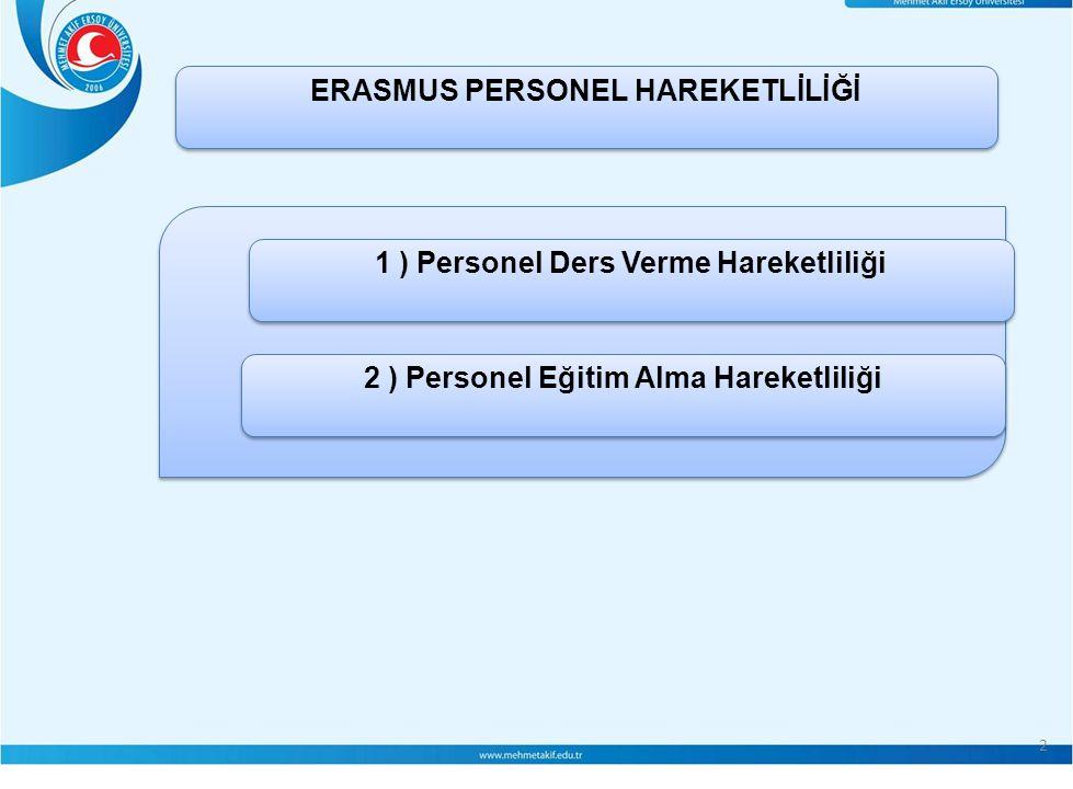 ERASMUS PERSONEL HAREKETLİLİĞİ