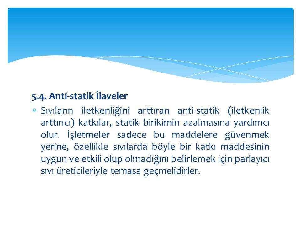 5.4. Anti-statik İlaveler