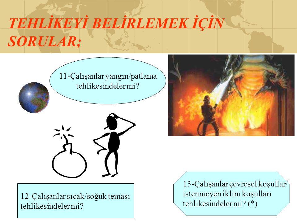 11-Çalışanlar yangın/patlama
