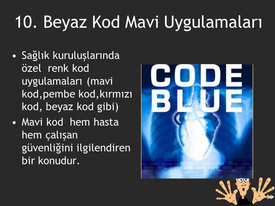 10. Beyaz Kod Mavi Uygulamaları