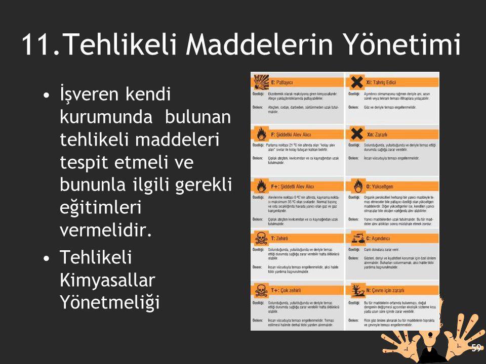 11.Tehlikeli Maddelerin Yönetimi