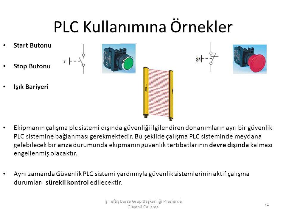 PLC Kullanımına Örnekler