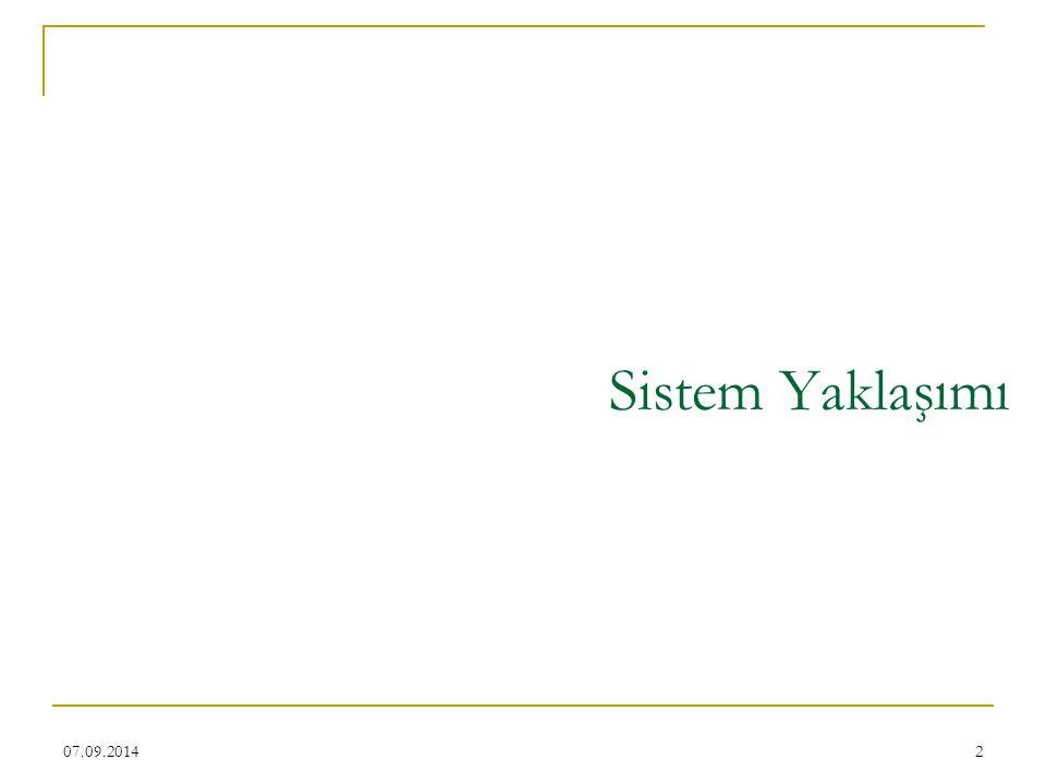 Sistem Yaklaşımı 06.04.2017