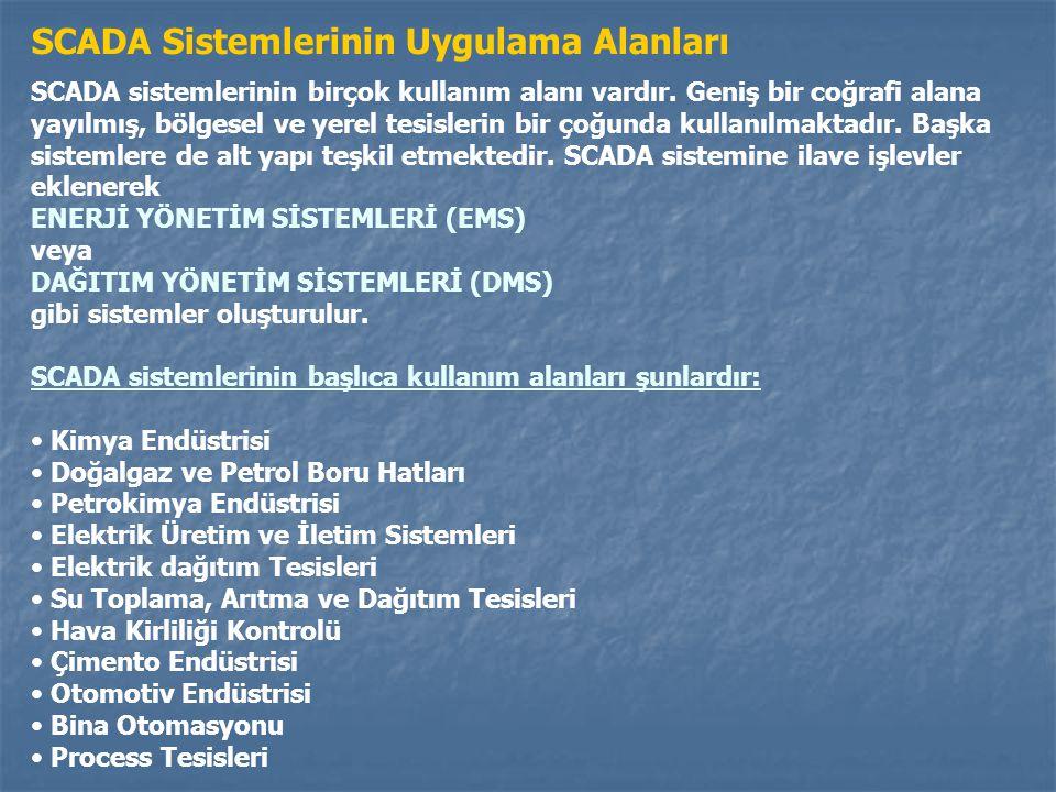 SCADA Sistemlerinin Uygulama Alanları