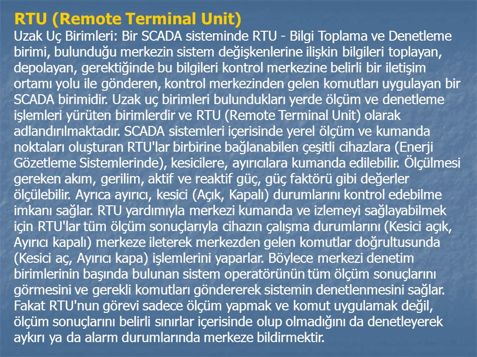 RTU (Remote Terminal Unit)
