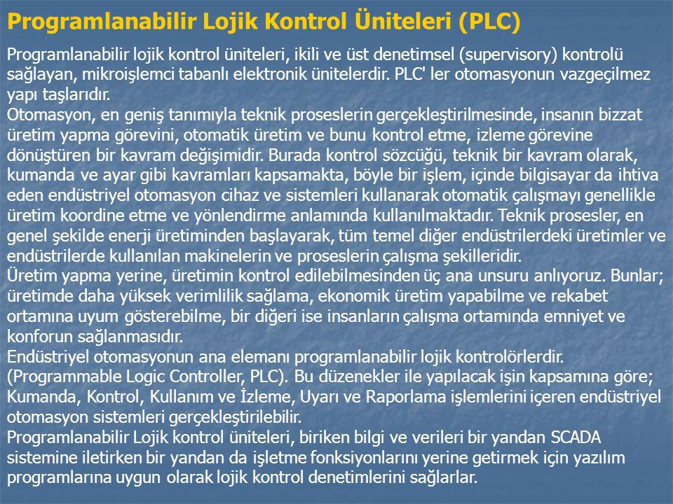 Programlanabilir Lojik Kontrol Üniteleri (PLC)