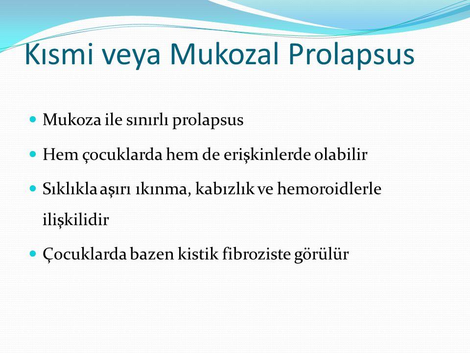 Kısmi veya Mukozal Prolapsus