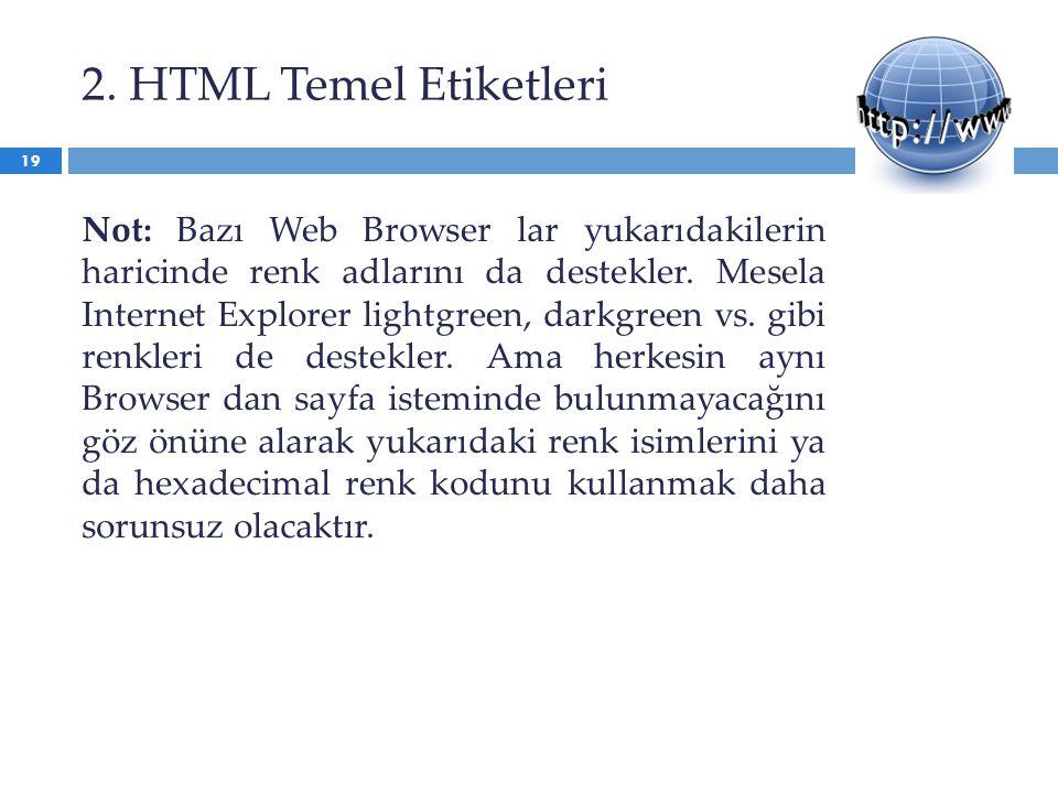 2. HTML Temel Etiketleri