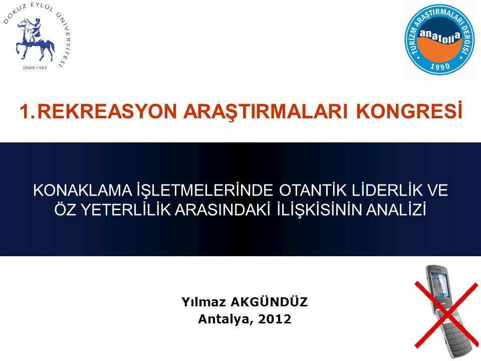 Yılmaz AKGÜNDÜZ Antalya, 2012