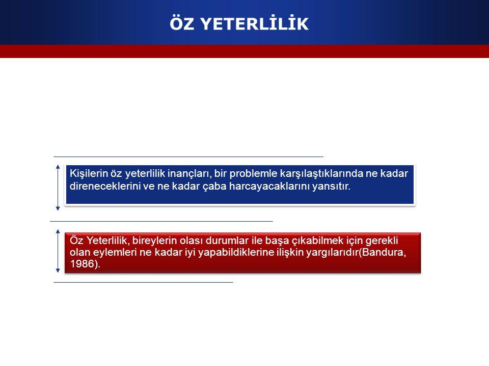 ÖZ YETERLİLİK
