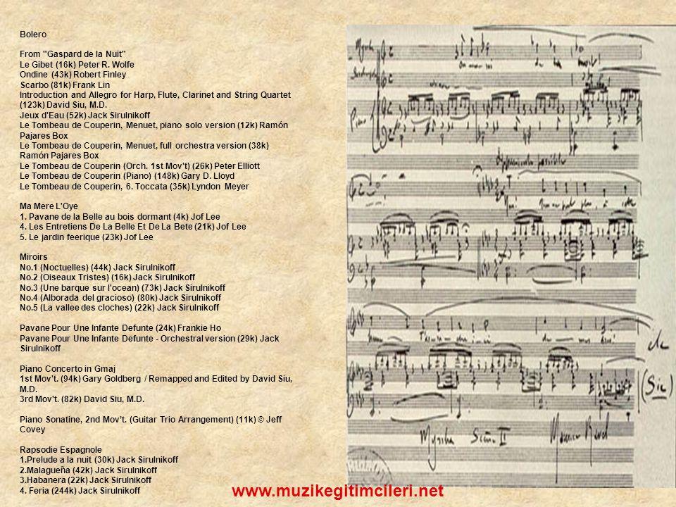 www.muzikegitimcileri.net Bolero From Gaspard de la Nuit