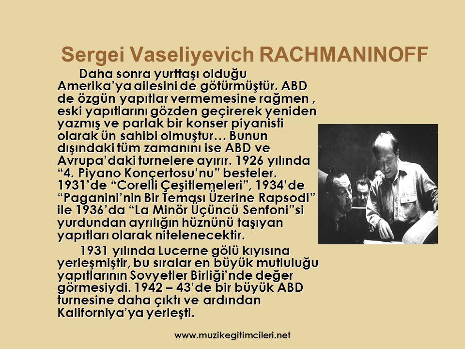 Sergei Vaseliyevich RACHMANINOFF