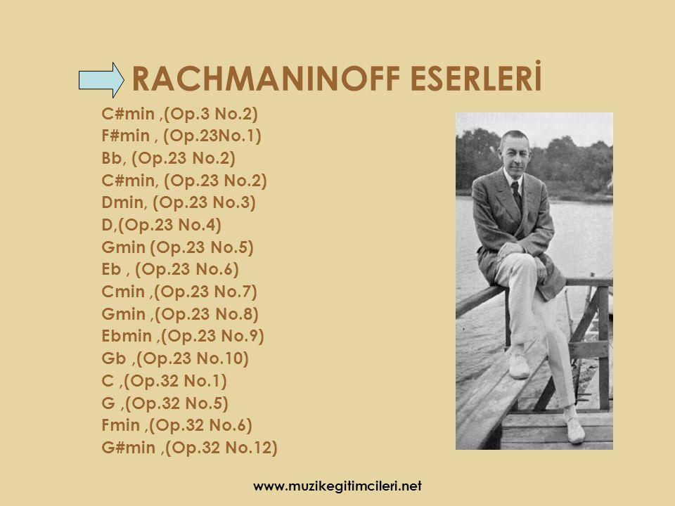 RACHMANINOFF ESERLERİ