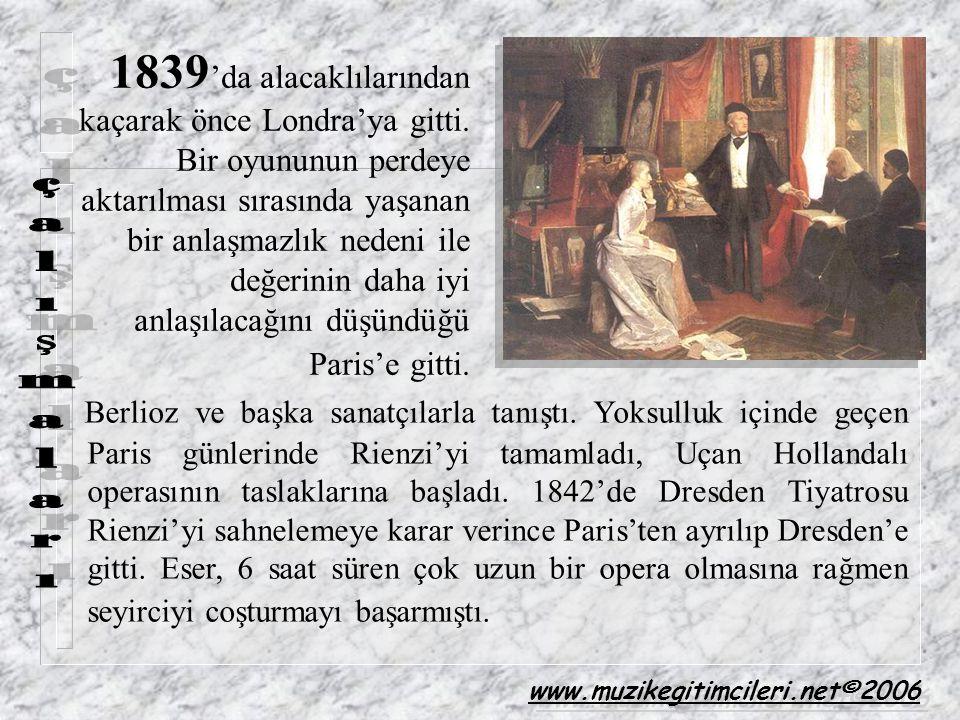 1839'da alacaklılarından kaçarak önce Londra'ya gitti
