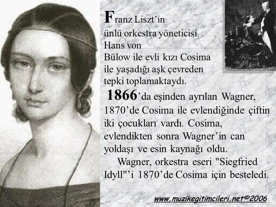 Franz Liszt'in ünlü orkestra yöneticisi Hans von. Bülow ile evli kızı Cosima ile yaşadığı aşk çevreden tepki toplamaktaydı.