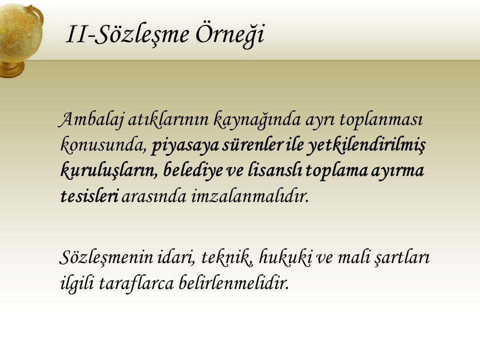 II-Sözleşme Örneği