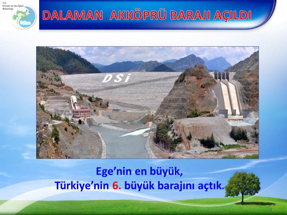 Ege'nin en büyük, Türkiye'nin 6. büyük barajını açtık.