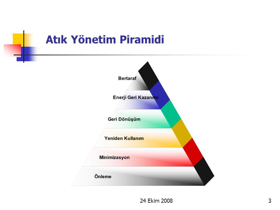 Atık Yönetim Piramidi 24 Ekim 2008 3