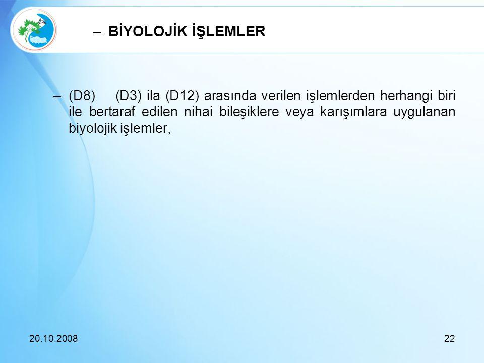 BİYOLOJİK İŞLEMLER