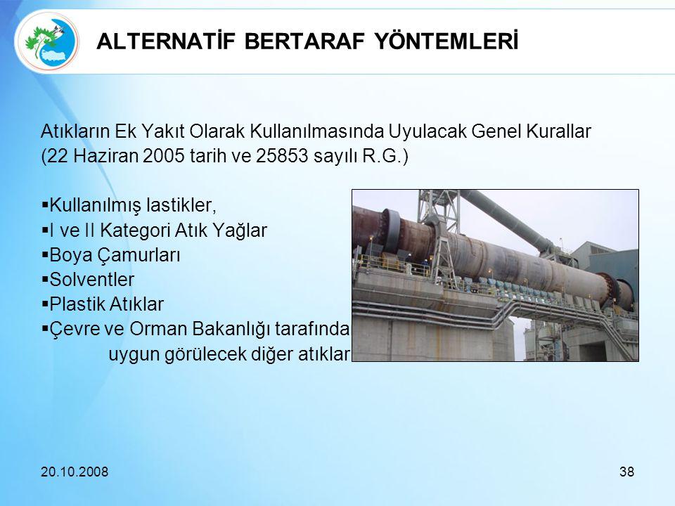 ALTERNATİF BERTARAF YÖNTEMLERİ