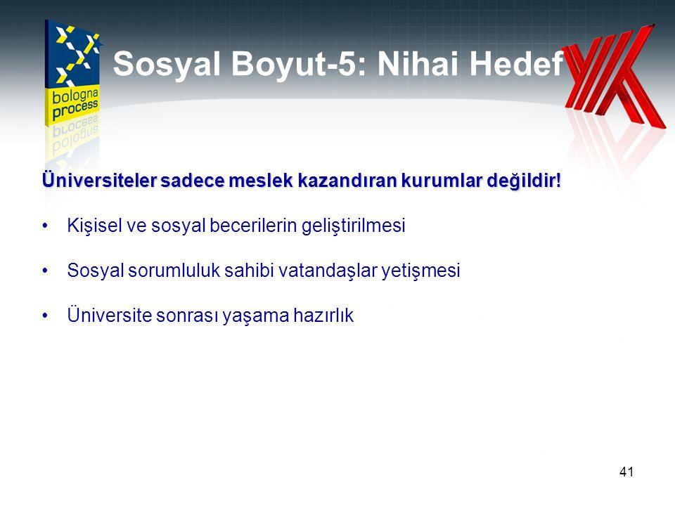 Sosyal Boyut-5: Nihai Hedef