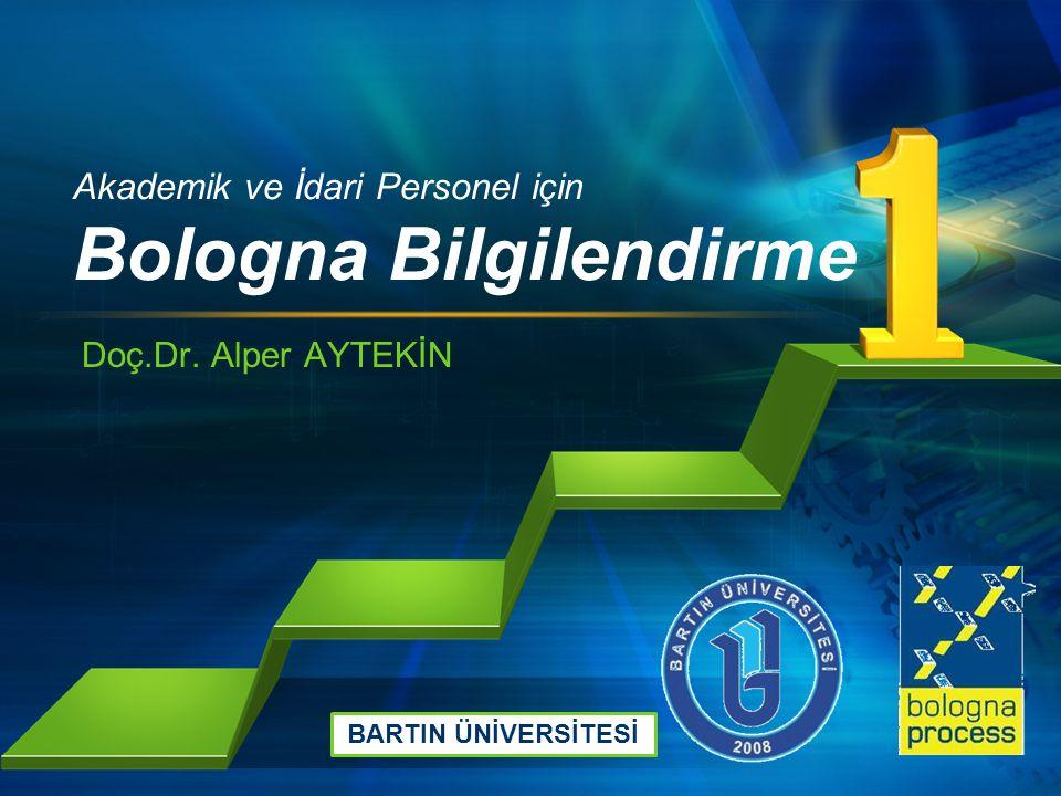 Akademik ve İdari Personel için Bologna Bilgilendirme