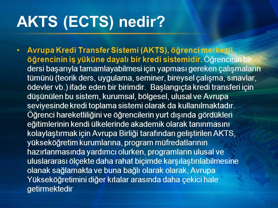 AKTS (ECTS) nedir