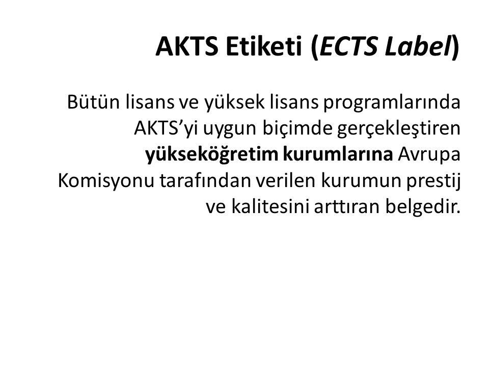 AKTS Etiketi (ECTS Label)