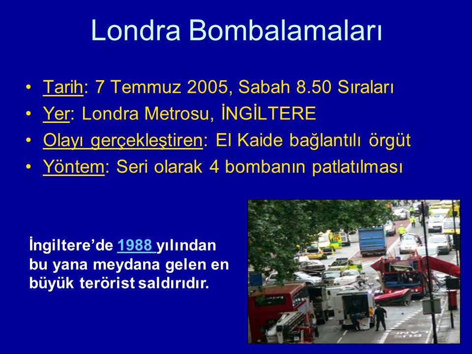 Londra Bombalamaları Tarih: 7 Temmuz 2005, Sabah 8.50 Sıraları