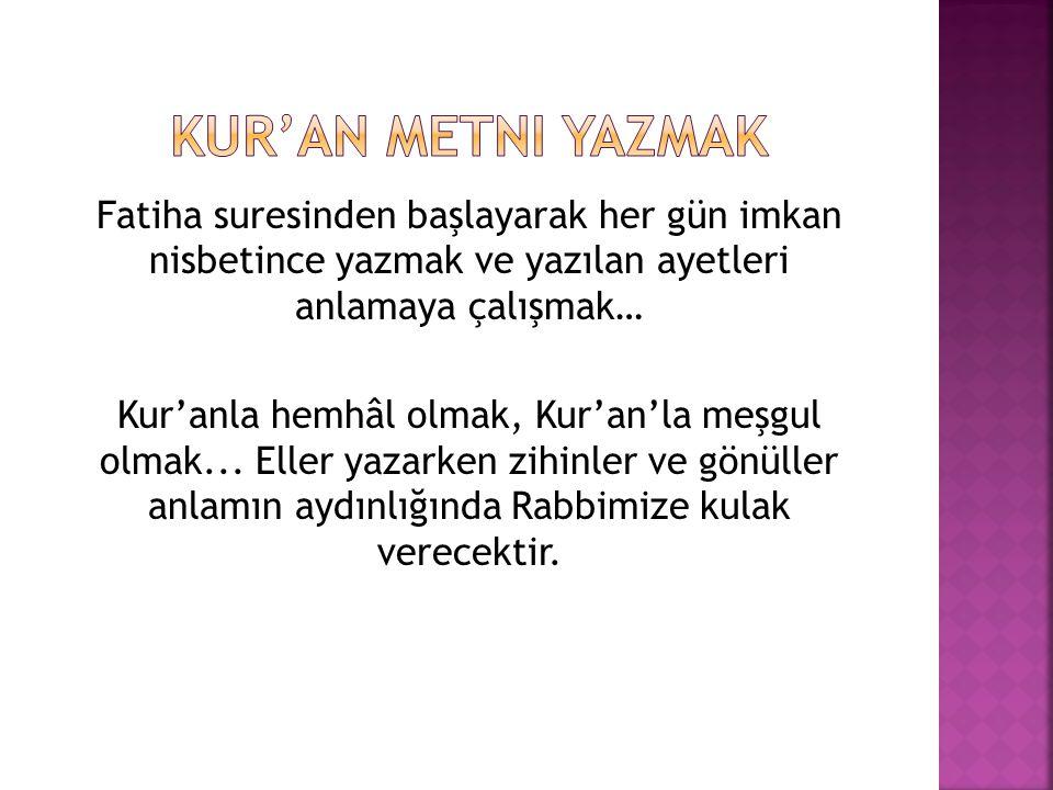Kur'an Metni Yazmak