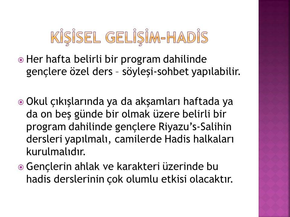 KİŞİSEL GELİŞİM-HADİS